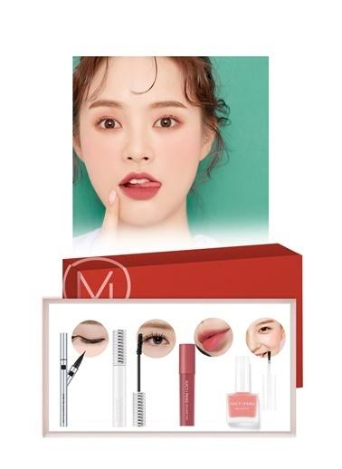 Missha Pink Makyaj Seti  Best Seller|Maskara-Ruj-Allık-Eyeliner  - Pink Days Renksiz